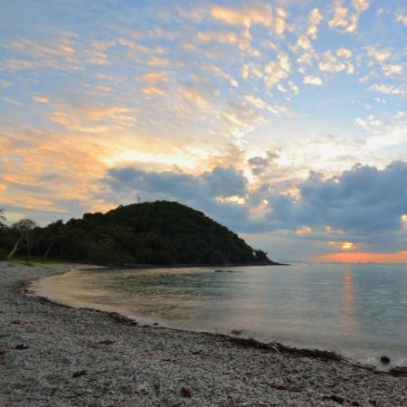 Seascape at dusk. photo