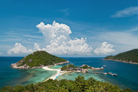 Best view point seascape, nangyuan island, thailand. photo