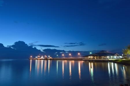 koś: Pier at dusk, ko samui ,thailand.