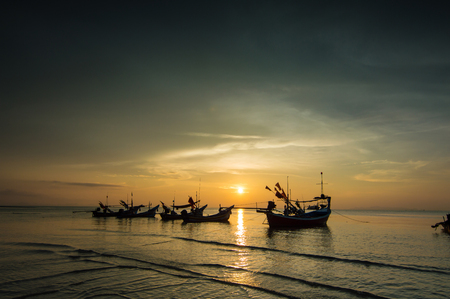 Sunset seascape of ko samui thailand. photo