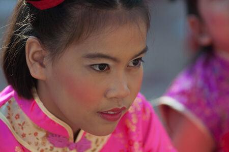8 10 years: KO SAMUI, THAILAND - FEBRUARY 8: Unidentified child 5 - 10 years old in Ko samui chinese newyear festival on February 8, 2014 in Ko samui, Thailand. Editorial