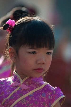 8 10 years: KO SAMUI, THAILAND - FEBRUARY 8: Unidentified child 5 - 10 years old in Ko samui chinese newyear festival on February 8, 2014 in Ko samui, Thailand. Editorial