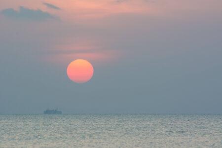 koś: seascape sunset view, ko samui, thailand.