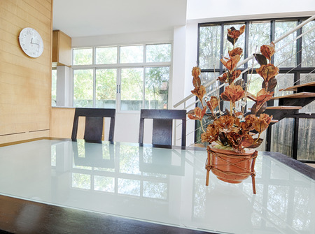 Home dining room interior design for modern life style. photo