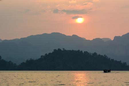 Ratchaprapha Dam, Khao Sok National Park, Surat Thani Province, Thailand ( Guilin of Thailand ) Stock Photo - 27823460