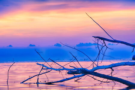 koś: Sunset seascape Ko Samui, Thailand. Stock Photo