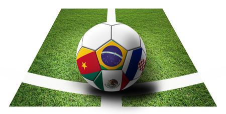 Soccer Championship 2014. Brazil. Group A. Brazil, Croatia, Mexico, Cameroon. artwork. photo