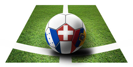 Soccer Championship 2014. Brazil. Group E. Switzerland, Ecuador, France, Honduras. artwork. photo