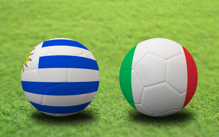 Soccer Championship 2014. group D. First round. Stock Photo - 29110349
