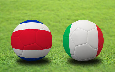 Soccer Championship 2014. group D. First round. Stock Photo - 29110355