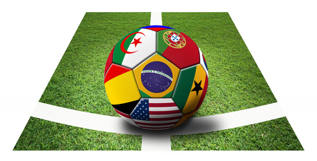 Soccer artwork for Championship 2014. Brazil. photo