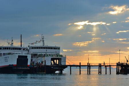 Evening seascape of ko samui thailand.
