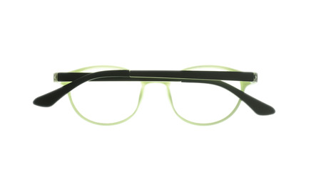 myopic: Eye glasses frame isolated on white background.