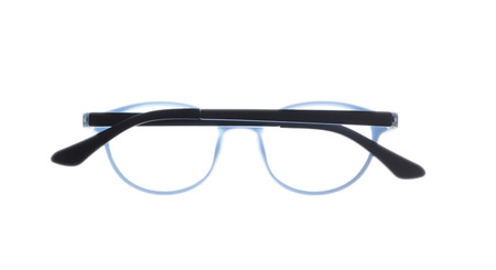 nearsighted: Eye glasses frame isolated on white background.