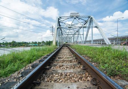 thani: Thailand, Surat thani old train Bridge.
