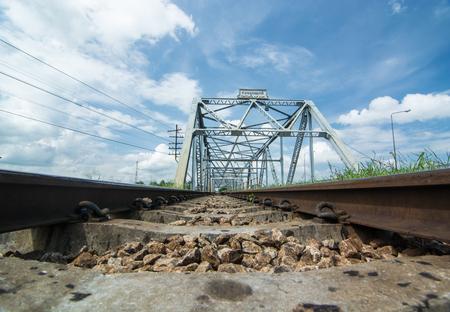 Thailand, Surat thani old train Bridge.