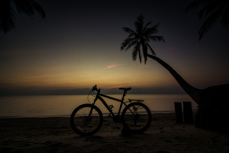 sunset silhouette landscape. photo