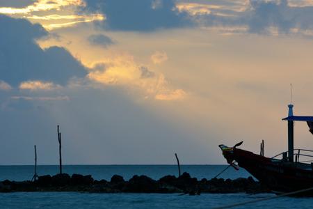 sun beams seascape.  Ko samui, Thailand. photo
