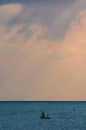 crepuscular: Sun beams seascape. Crepuscular rays, Ko samui, Thailand.