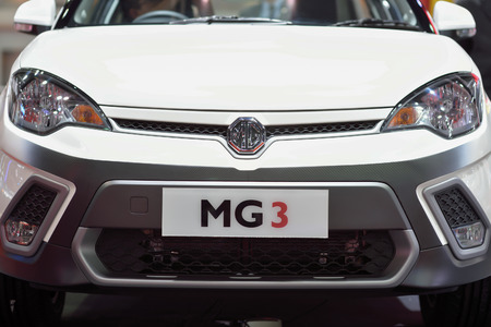 showed: Nonthaburi,Thailand - March 24th, 2015: MG3 ,showed in Thailand the 36th Bangkok International Motor Show on 24 March 2015