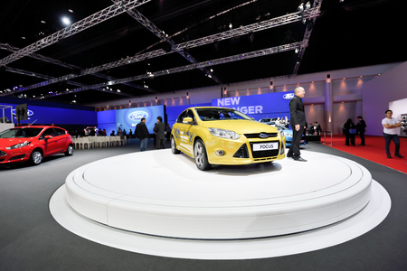 showed: Nonthaburi,Thailand - March 24th, 2015: Ford booth, showed in Thailand the 36th Bangkok International Motor Show on 24 March 2015 Editorial