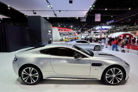 showed: Nonthaburi,Thailand - March 24th, 2015: Aston martin booth ,showed in Thailand the 36th Bangkok International Motor Show on 24 March 2015
