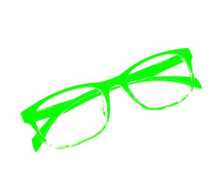 nearsighted: Glasses frame ove white background.