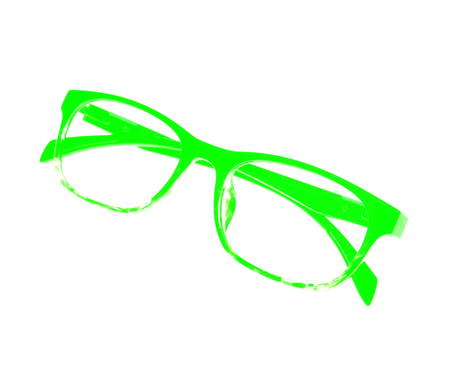 myopic: Glasses frame ove white background.