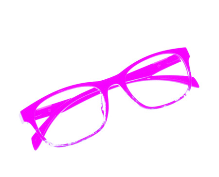 ove: Glasses frame ove white background.