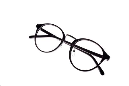 myopic: Eye glasses frames on white background.