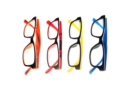 nearsighted: Eye glasses frames on white background.