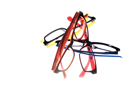 nearsighted: Eye glasses frames on white background.