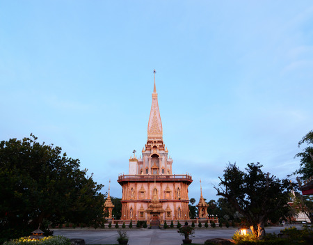 chalong: Wat Chalong is the most important temple of Phuket, THAILAND.