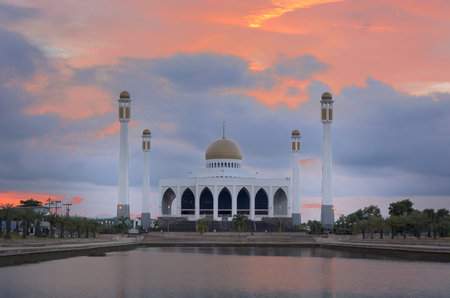 hushed: Center Mosque in Songkla Province, Southern Thailand. Stock Photo