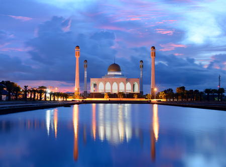 pattani thailand: Mezquita Center en la provincia de Songkla, el sur de Tailandia. Foto de archivo
