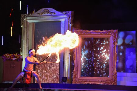 CHIANGMAI, THAILAND - Jan 3-5, 2017 : Miss Chiangmai 2017  The special Thai lanna norther style classic dace show at the Chiangmai Winter Festival 2017 centre stage. Editorial