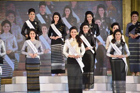 parody: CHIANGMAI, THAILAND - Jan 3-5, 2017 : Miss Chiangmai 2017  The special Thai lanna norther style classic dace show at the Chiangmai Winter Festival 2017 centre stage. Editorial