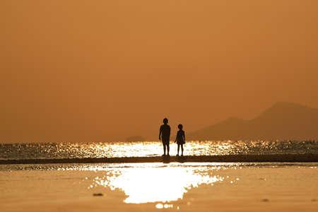 Sunset over the ocean, ko samui, thailand.