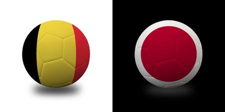 Football 2018, Illustration of mixed flag on one ball. 版權商用圖片 - 104095949