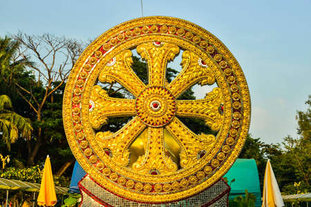 dhamma wheel stock photo picture and royalty free image image