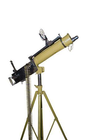 machine-gun: Anti aviation machine-gun Stockfoto