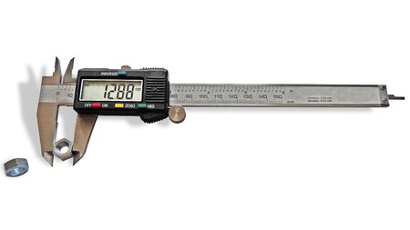 Vernier caliper on a white background, isolated image photo