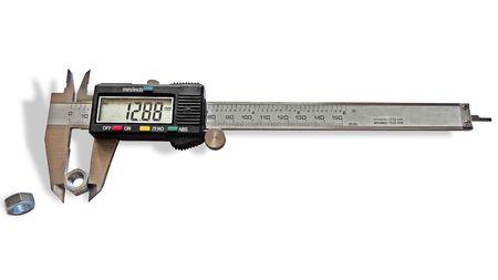 sliding caliper: Vernier caliper on a white background, isolated image