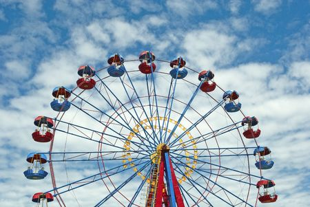Ferris wheel with space for text Standard-Bild