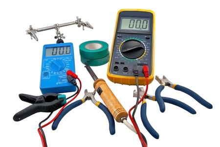 Herramientas para reparaciones eléctricas Inicio Foto de archivo - 8882335