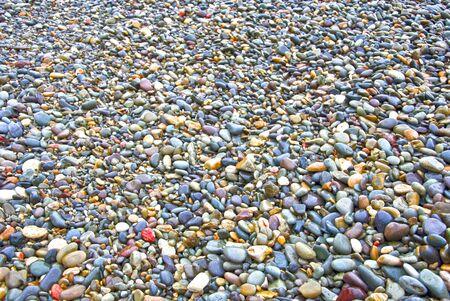 Small rocky cover the sea coast. Texture, background   photo