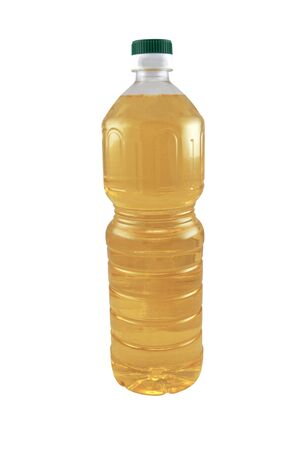 sunflowerseed: sunflower-seed oil bottle isolated on white background   Stock Photo