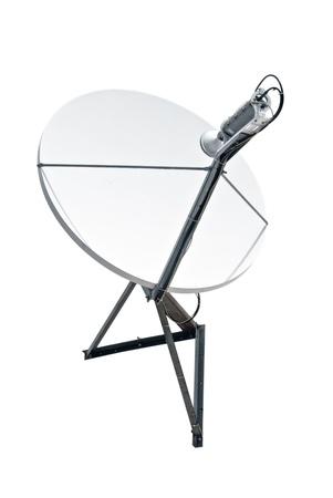 satellite dish antenna isolated on white background   Standard-Bild