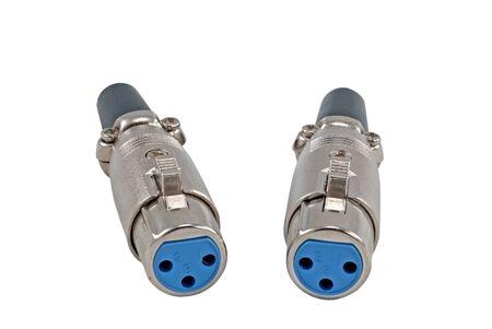 audio plug: Audio plug isolated on white backgroun