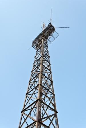 radio transmitter antenna tower   photo